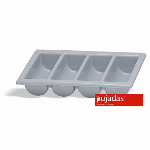 Bandeja de cubertería de plástico apilable PUJADAS