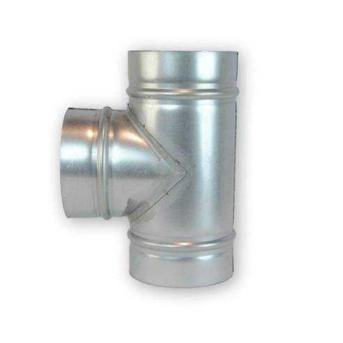 Te Simple 90º Galvanizado (Ø100-125-150-175-200-250-300-355-400 mm)