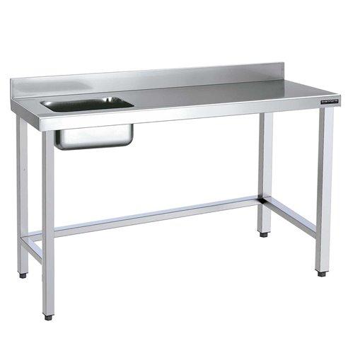 Mesa de trabajo con cubeta acero inoxidable fondo 700 (Varias Medidas)