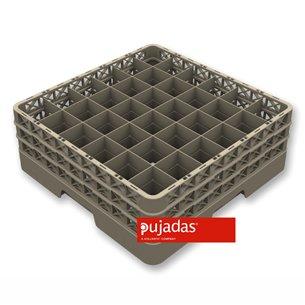 Cesta lavado vasos y copas 50x50 36 compartimentos