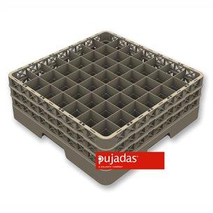 Cesta lavado vasos y copas 50x50 49 compartimentos