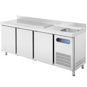 Mesa refrigerada con fregadero EDENOX MPSF-200