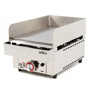 Frytops a gas ARILEX acero rectificado de 15 mm con medidas 335x590x308h mm 35FRYGR