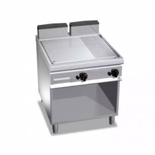 Plancha fry-top BERTOS a gas, placa lisa-acanalada G9FM8M-2-Z005G9FM8M-2