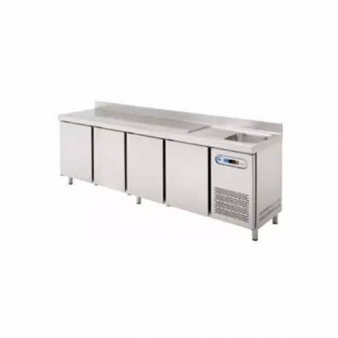 Mesa refrigerada con fregadero edenox MPSF-250-Z00919059830