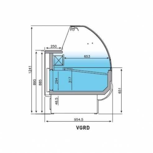 Vitrina expositora refrigerada serie Granada VGRD 1000-Z017VGRD 1000