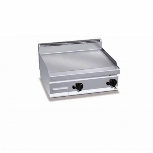 Plancha fry-top a gas de sobremesa Berto's G7FL8B/CR - placa lisa cromo duro-Z005G7FL8B/CR
