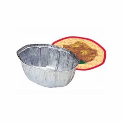 Bandeja ovalada aluminio con tapa para pollos 100 unid.-Z043BAG+Z043TG