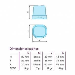 Fabricador de hielo pequeño 17 gr compacto con depósito CP 53 (aire)-Z0157ANF0166