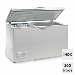 Congelador horizontal 208 litros tapa ciega abatible HC 240 INOX
