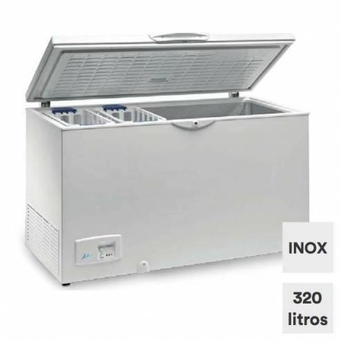 Arcón Congelador Industria 320 litros tapa ciega abatible HC 370 INOX-Z0150ITI0061