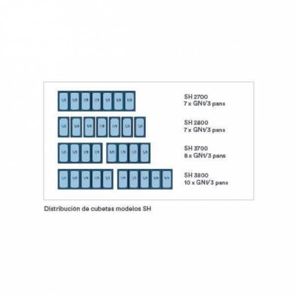 Bajomostrador para bandejas GN 1/3 de 2 puertas SH 2700-Z0150IRW0032