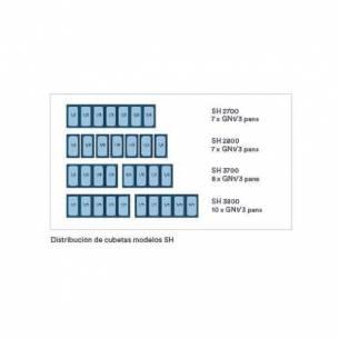 Mesa fría para ensaladas con bandejas GN 1/3 SH 3800 - 3 puertas