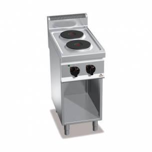 Cocina BERTOS 2 fuegos eléctrica con pie