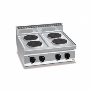 Cocina BERTOS 4 fuegos eléctrica sobremesa