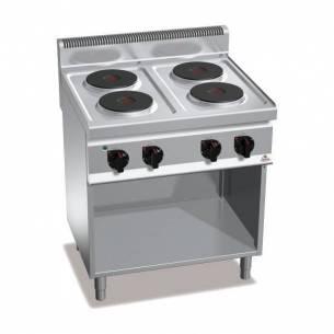 Cocina BERTOS 4 fuegos eléctrica con pie