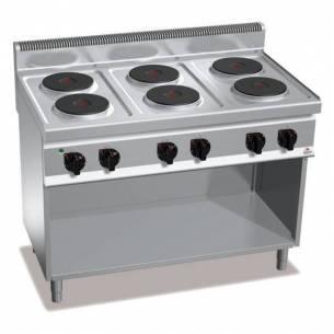 Cocina BERTOS 6 fuegos eléctrica con pie