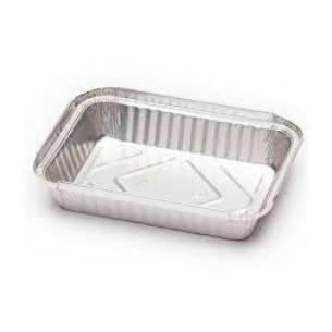 Bandeja rectangular aluminio sin tapa para pollos 100 unid.-Z043BA