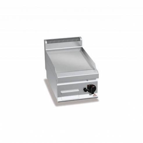 Plancha fry-top BERTOS 400 acero rectificado a gas - placa lisa-Z005G7FL4B