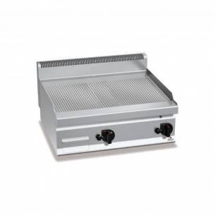 Plancha fry-top BERTOS 800 acero rectificado a gas - placa acanalada-Z005G7FR8B-2