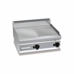 Plancha fry-top BERTOS 800 acero rectificado a gas - placa lisa/acanalada-Z005G7FM8B-2