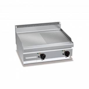 Plancha fry-top BERTOS 800 acero rectificado eléctrica - placa lisa/acanalada-Z005E7FM8BP-2