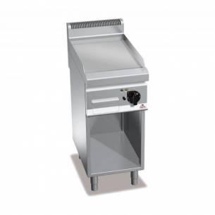 Plancha fry-top BERTOS 400 acero rectificado eléctrica - placa lisa + Mueble-Z005E7FL4MP