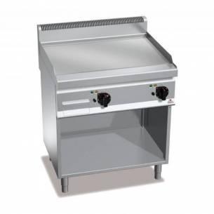 Plancha fry-top BERTOS 800 acero rectificado eléctrica - placa lisa + Mueble-Z005E7FL8MP-2
