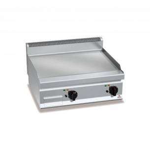 Plancha fry-top BERTOS 800 cromo duro eléctrica - placa lisa-Z005E7FL8BP-2/CR