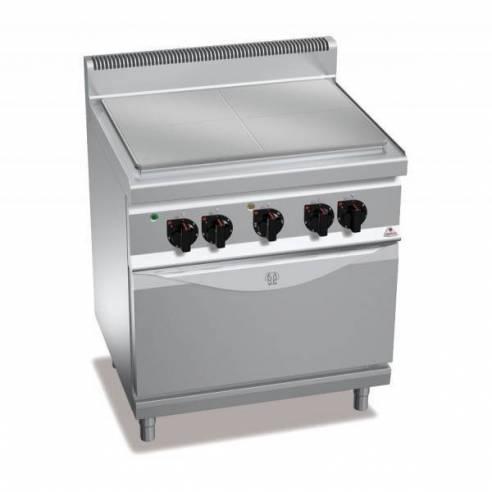 Placa radiante BERTOS 800 eléctrica + Horno GN 2/1-Z005E7TP+FE