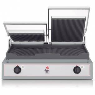 Grill-Sandwichera eléctrico acanalado doble GR-2 FM