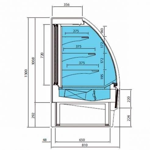 Vitrina expositora refrigerada pastelería VBR 12 R Infrico-Z017-VBR12R
