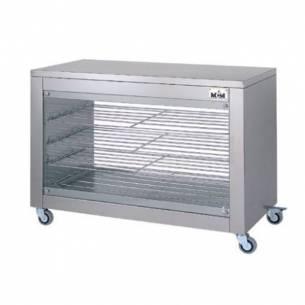 Vitrina calefactora doble frontal para pollos asados VC-4ED
