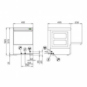 Lavavasos industrial D-Wash 35 (cesta 35x35 cm)