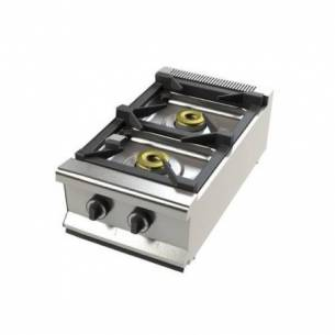 Cocina de gas industrial sobremesa 2 fuegos 2 FS-40