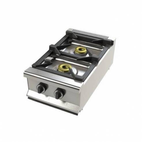 Cocina de gas industrial sobremesa 2 fuegos 2 FS-40-Z0532FS-40