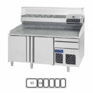 Mesa fría refrigerada pizza Infrico MP 1740 Serie 800 (conservación)