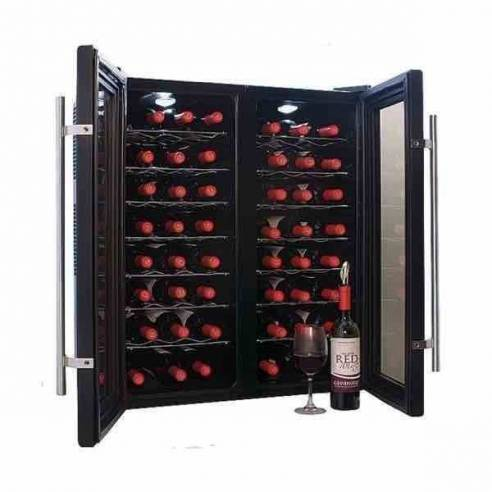 Vinoteca-conservador de vino Cavanova CV048 48 botellas 2 puertas sobremesa-Z026CV048