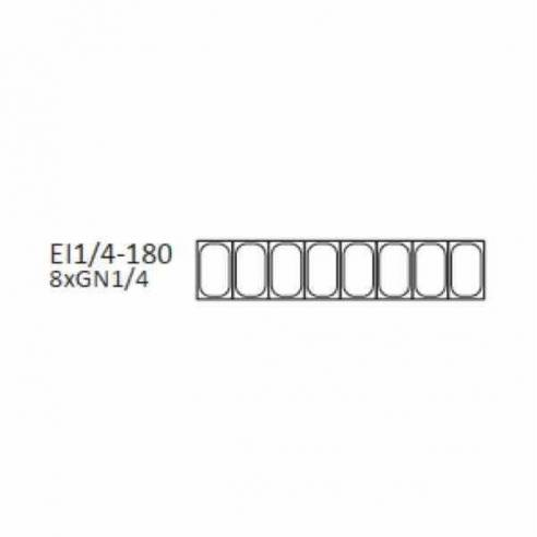 Vitrina expositora refrigerada FAST-FOOD GN topping unit 1/4-180-T-Z064EI1/4-180-T