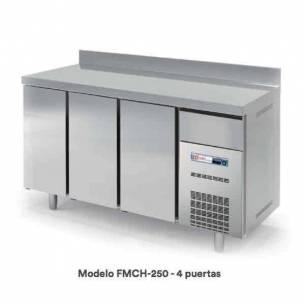 Bajo mostrador refrigerado FMCH-250 Snack 4 puertas acero inox-Z070FMCH-250