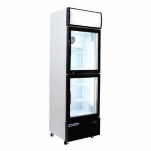 Armario expositor refrigerado 2 puertas cristal CAB 300 para refrescos-Z021CAB300