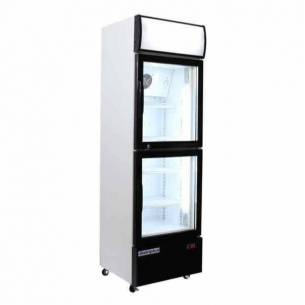 Armario expositor refrigerado 2 puertas cristal CAB 300 para refrescos