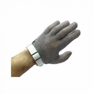 Guantes anticorte de malla de acero inoxidable 5 dedos ambidiestros