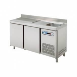 Mesa refrigerada con fregadero  MPSF-150