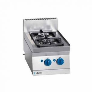 Cocina de gas 2 fuegos Edenox SCG-40 E modular 40 x 65 cm