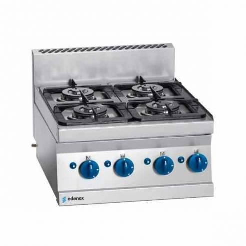 Cocina de gas 4 fuegos Edenox SCG-60 E modular 60 x 65 cm-Z0093931102