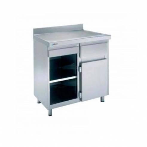 Mueble cafetero Acero inoxidable DISTFORM 1000X600 mm.-Z001F3020001