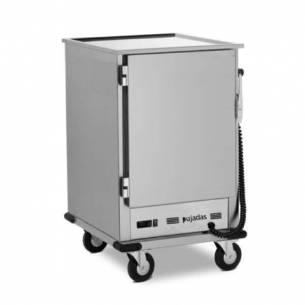 Armario caliente pequeño con ruedas Pujadas para 10 bandejas gastronorm GN 2/1