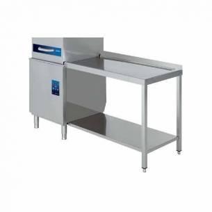 Mesa lavavajillas capota Edenox MLS-126 con estante sin peto 1200x600 mm