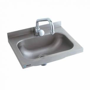 Lavabo acero inoxidable pequeño Edenox LB-43 - Sujeción pared